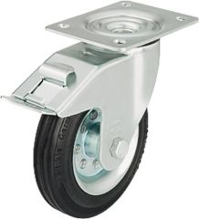 Blickle Vollgummilenkrolle mit Feststeller 100 kg Rad D125mm