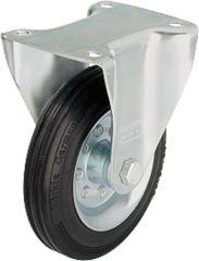Blickle Vollgummi-Bockrolle BE-VE 125R, tragfähigkeit 100 kg