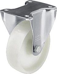 BLICKLE Bockrolle Polyamid B-PO 150G, Tragfähigkeit 300 kg Rad D= 150mm, Plattengröße 14