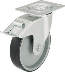 Blickle Lenkrolle Polyurethan mit Feststeller Rad d=80mm