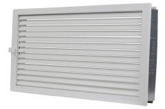 Upmann Warmluftgitter, Außenmaß 55/28 cm, weiß 51510