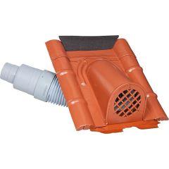 MAZARI TECHNIK Entlüftungshaube Typ Beton mit PVC-Schlauch, Farbe Rot