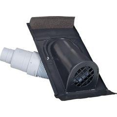 MAZARI TECHNIK Entlüftungshaube Typ Ton mit PVC-Schlauch, schwarz-grau