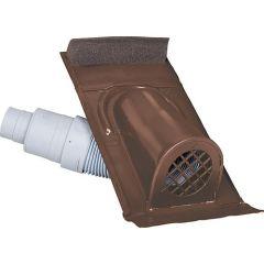 MAZARI TECHNIK Entlüftungshaube Typ Ton mit PVC-Schlauch, Farbe Braun