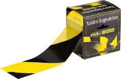Folienband schwarz/gelb 70mm, Länge 200m