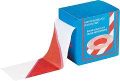 Folienband rot/weiß 70mm, Länge 200m