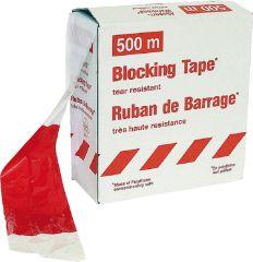Folienwarnband rot/weiß gestreift, 80mm 1 Rolle a 500m