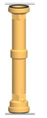 PAW Messingrohr DN 32, 2 x 2 AG x 292 mm mit Schwerkraftbremse und Dichtung