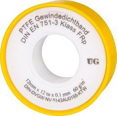 PTFE-Gewindedichtband Rolle (Teflonband) FRp für Feingewinde