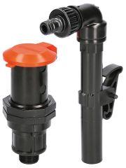 Claber Wasserzapfstelle mit 360° drehbarem Entnahmerohr und