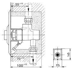 Abdeckplatte Benkiser mit Druck- knopf (Edelstahl) für Model
