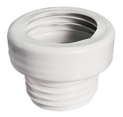 WC-Anschluss gerade Durchmesser 100 x 90mm Farbe: weiss