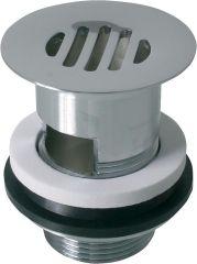 Schaftventil 11/4 x 60mm Messing verchromt mit Überlauf und