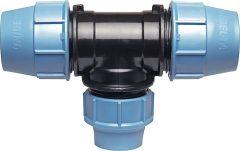 Unidelta Pe-Rohr Klemmverbinder T-Stück reduziert 32x25x32