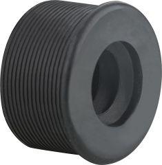 Haas Gummi-Nippel schwarz für Siphonrohr 57 x 32mm DN32
