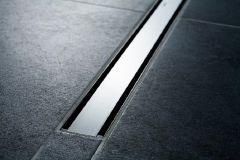 Duschrinne CleanLine60 300-1300mm, Rahmen Edelstahl schwarz