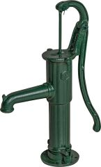 Puteus Handpumpe mit Rundflansch Typ 75, 1 1/4, grün