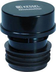 KESSEL KESSEL-Aktivkohlefilter aus Kunststoff (ABS), mit auswechsel- barer Kartusche DN
