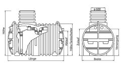 Intewa Kunststoff-Erdtank ET-3300-M MAXIMA 3.300 l 110060