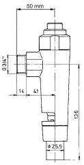 Ablaufgarnitur Benkiser 3-tlg. 3/4 für Modell 828/832/833/88