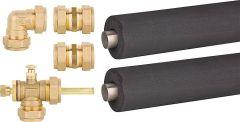 Verbindungsset für 2 Röhren- kollektoren / Grundset mit Dac