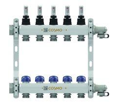 COSMO Edelstahlverteiler mit DMA für 4 Heizkreise