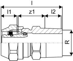 Uponor Übergangsverschraubung 1/2AG x 17mm - 1005062