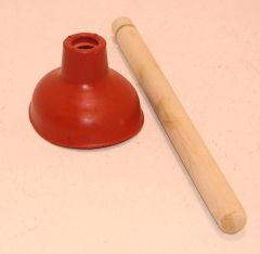 Haas Gummi-Ausgussreiniger kpl. m. Holzstiel 115 mm 3101