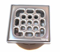 Viega Aufsatz4934.1 100x100mm, Kunststoff grau