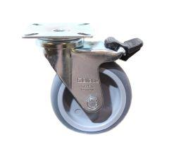 BLICKLE Lenkrolle mit Feststeller LPA-TPA 75G-FI, Tragfähigkeit 75 kg Rad D= 75mm, Platt