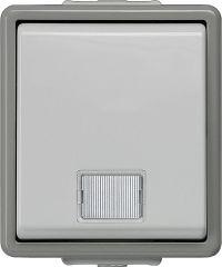 Aufputz-Kontrollschalter für Ausschaltung mit Fenster 75 mm