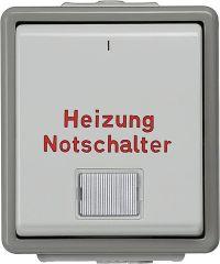 Aufputz-Heizungsnotschalter m. Fenster/ 75 mm x 66 mm x 54 m