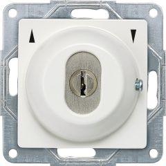 Jalousie-Schlüsselschalter mit Symbolen Auf/Ab 1-polig