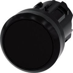 Drucktaster, 22mm, rund, schwarz Druckknopf