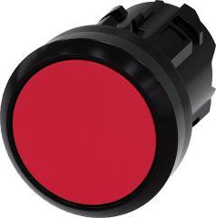Siemens Drucktaster, 22mm, rund, rot, Druckknopf