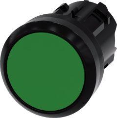Siemens Drucktaster, 22mm, rund, grün, Druckknopf
