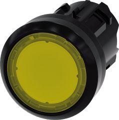 Siemens Drucktaster beleuchtbar, 22mm, rund, gelb