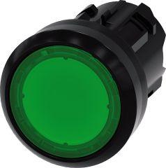 Siemens Drucktaster beleuchtbar, 22mm, rund, grün,