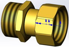 COSMO Verschraubungs-Set 1 für Brauchwassermischer CBWM25 i